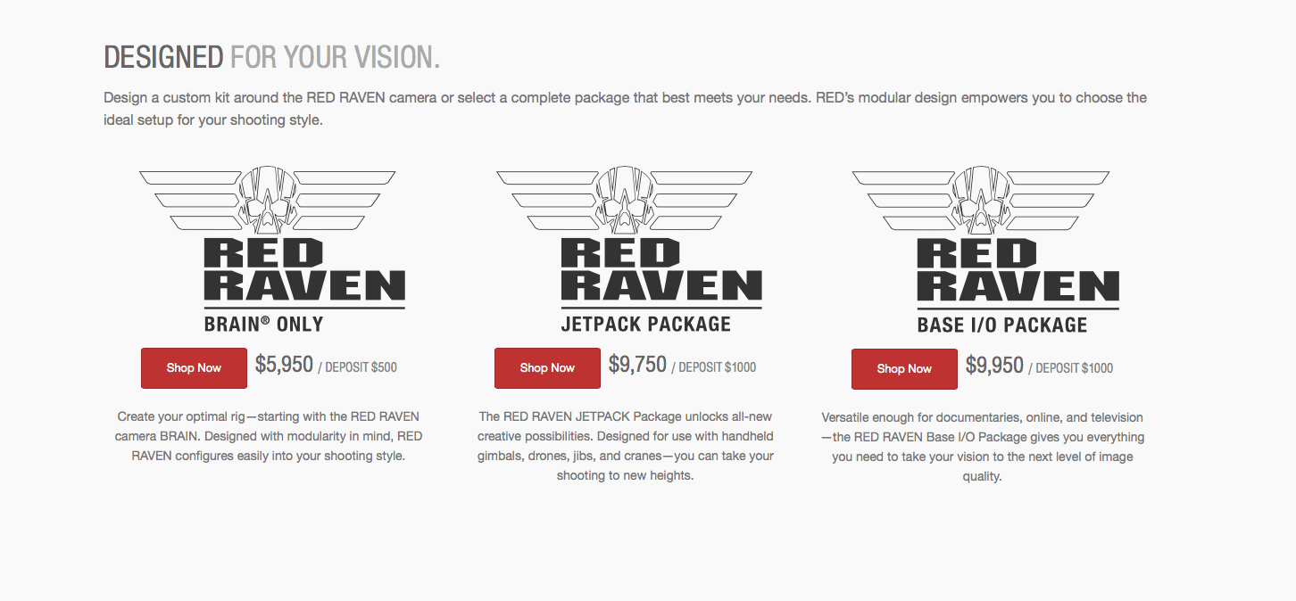Red Raven Specs Red Raven Camera Package Details Are Out