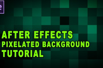 Adobe After Effects Tutorial: Animated Pixelated Background TunnelvizionTV