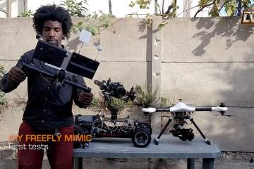 Short Test of a DIY Freefly Mimic on Alexmos from Lycks Vision