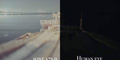 Sony A7s Mark II Camera Vs Human Eye at Night