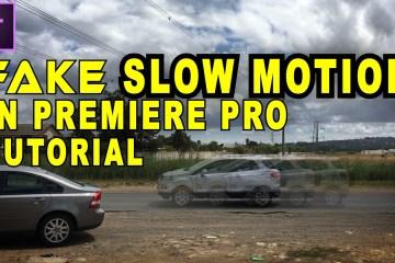 Make Fake Slow Motion In Adobe Premiere Pro via Tunnelvizion