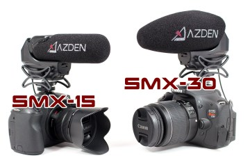 The Azden SMX-30 and SMX-15 Microphones Features Overview