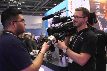 Sony FS7 Shape Rig and Atomos Shogun Cage by Shape at BVE 2016