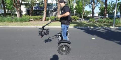 """CineMilled PRO Ring """"JIB Mode"""" BTS Handsfree on a Segway"""