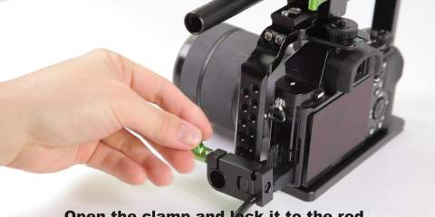 Lanparte HDMI Cable Clamp for Sony A7, A7s, A7 2, and Panasonic GH4 Cameras