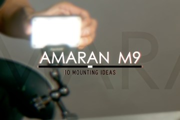 10 Simple Ways To Mount The Aputure Amaran M9 Credit Card Sized LED light