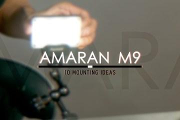 10 Simple Ways To Mount The Aputure Amaran M9 Credit Card Sized LED light