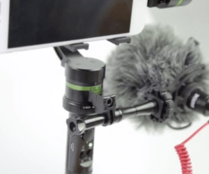 LanParte new mount to attach a microphone to smartphone handheld gimbal