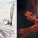 Dibujos de niños en la realidad