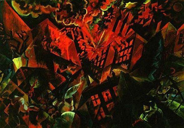 George Grosz un soldado con alucinaciones