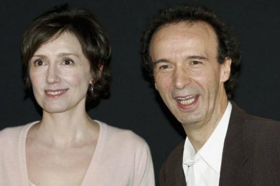 NIcoletta Braschi y Roberto Benigni