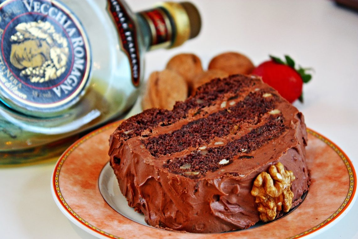 Schoko Walnuss Kuchen Rezept Chocolate Walnut Cake With Brandy Frosting