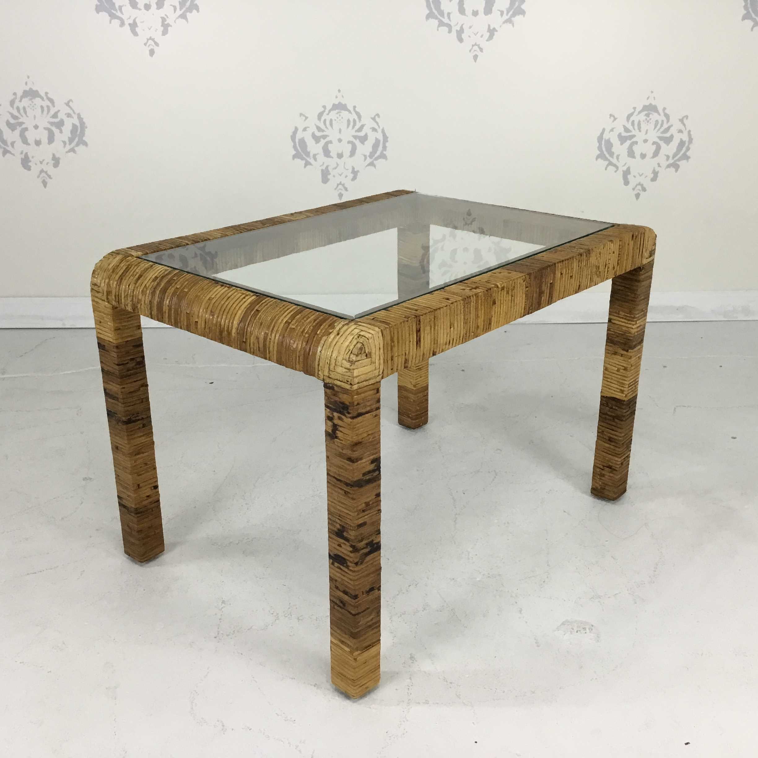Rattan Table Wrapped Rattan Side Table