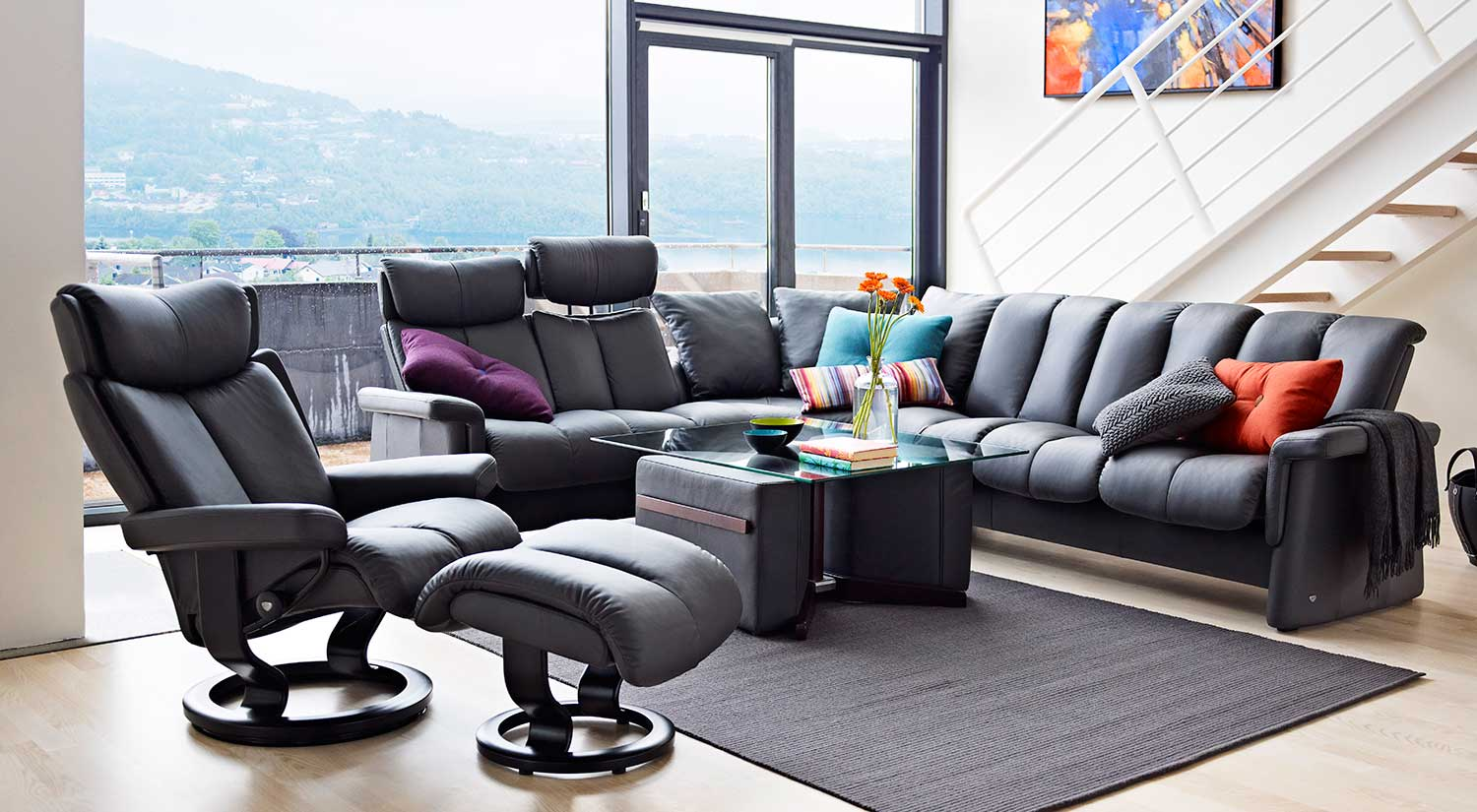 Sectional Sofas With Recliners Circle Furniture - Stressless Magic Chair | Ekornes Chairs Ma