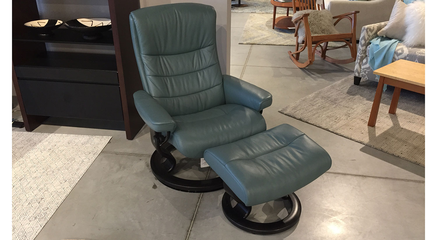 Stressless Outlet Circle Furniture Nordic Stressless Chair In Aqua