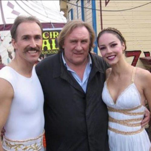 VIPS en el Circo Raluy. Gerard Depardieu