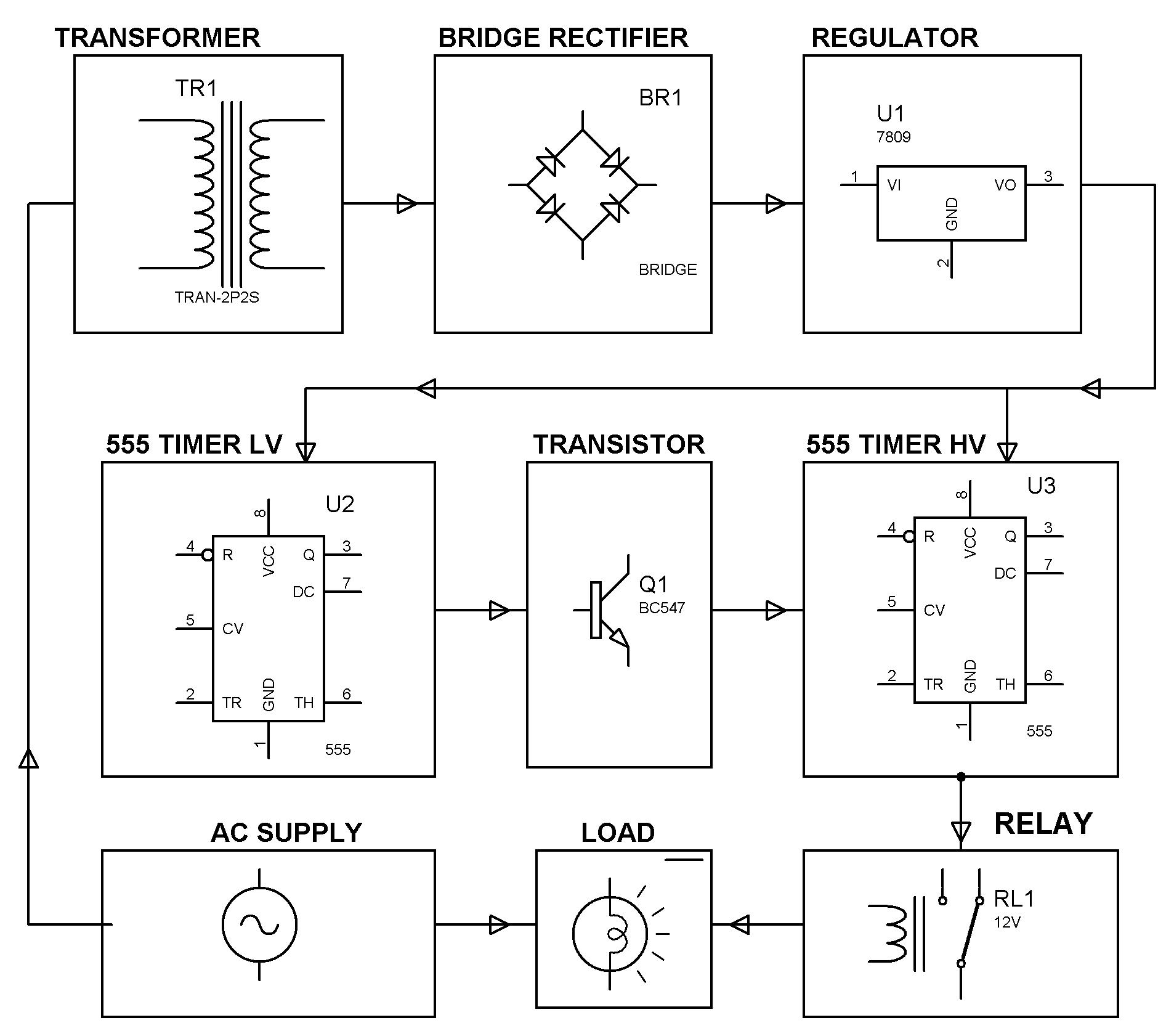 circuit diagram relay symbol