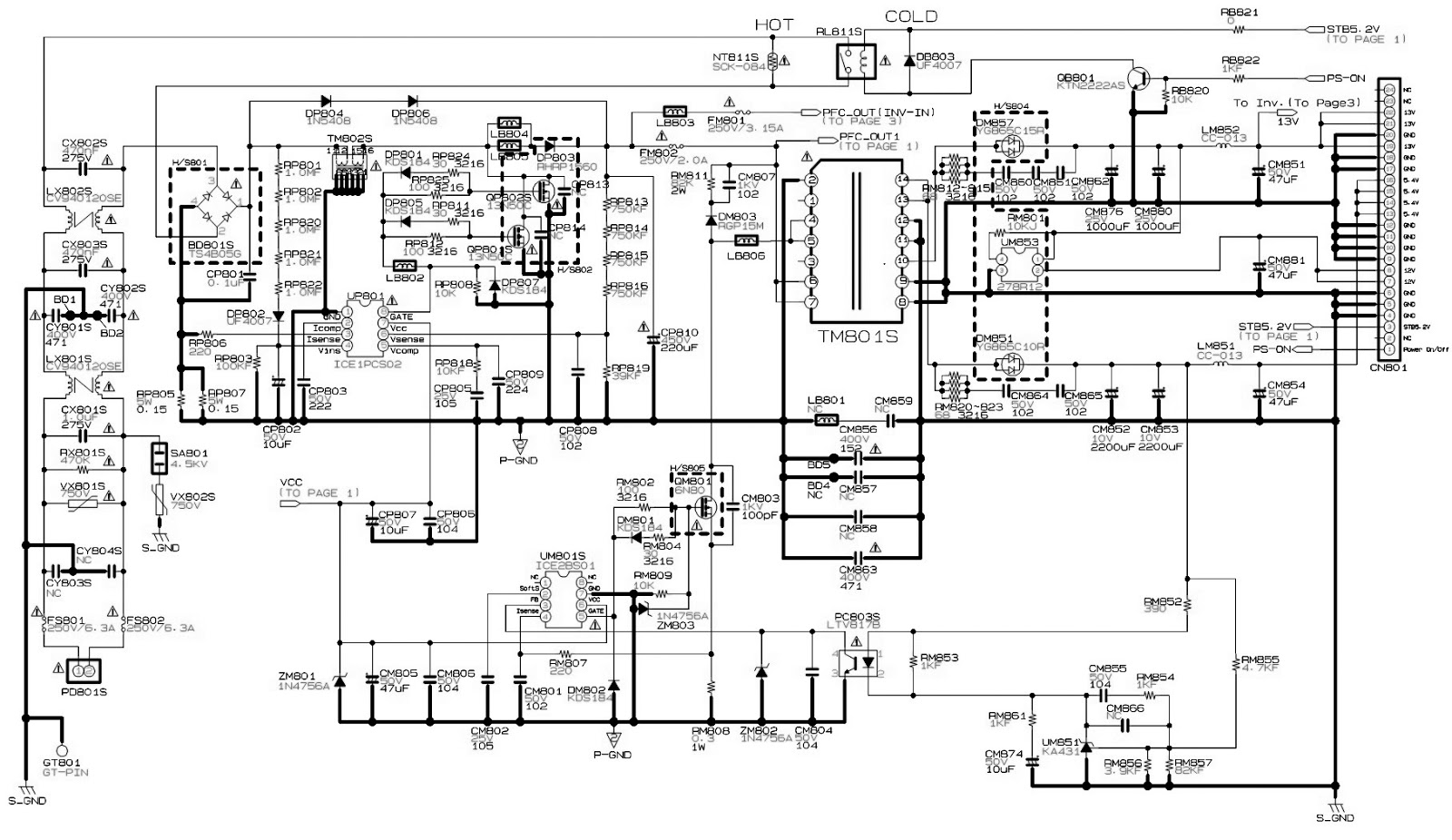 led tv circuit diagram samsung