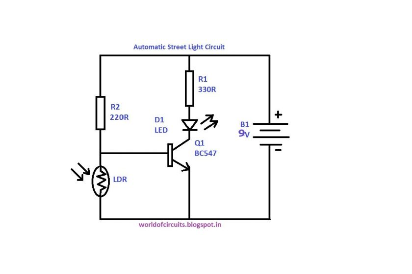 the automatic light circuit on breadboard