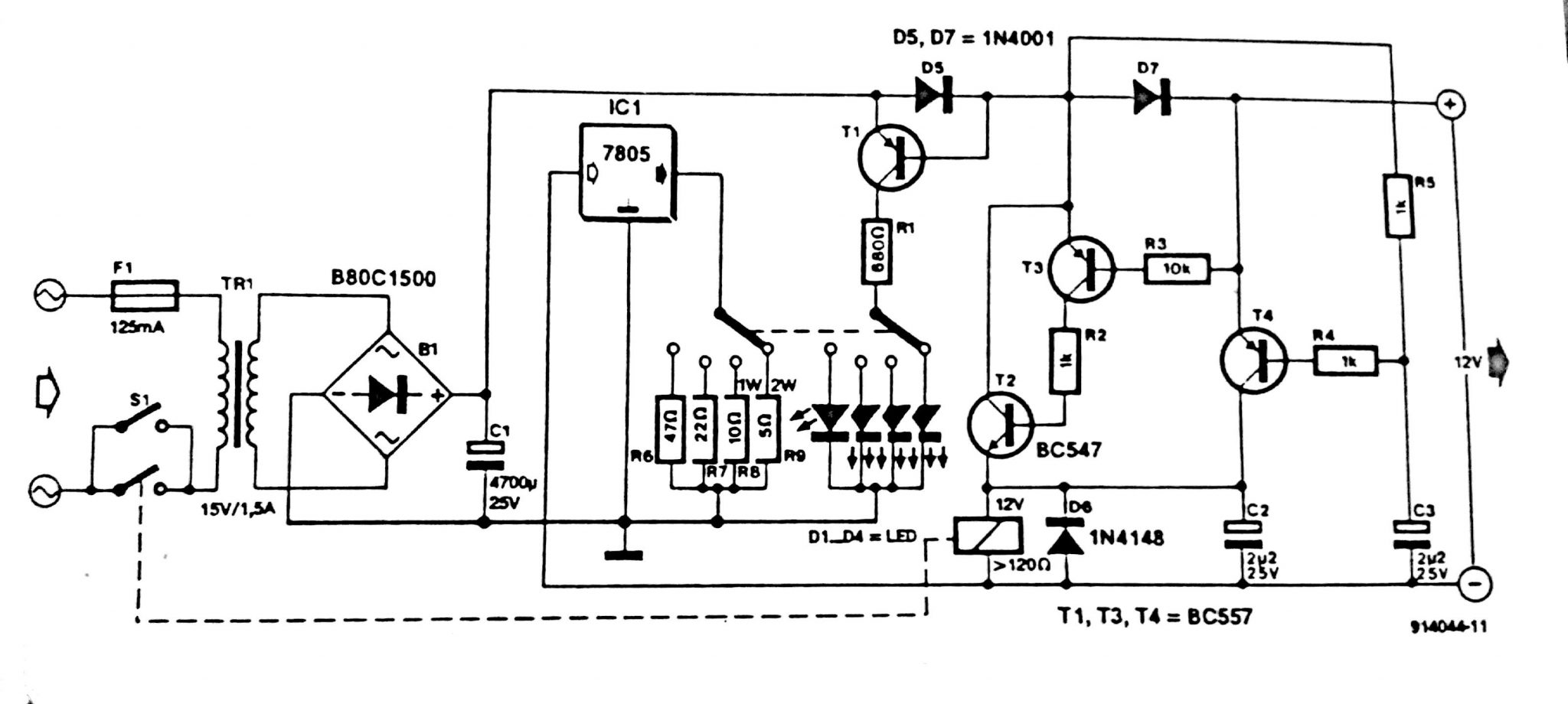 cigarette lighter circuit diagram