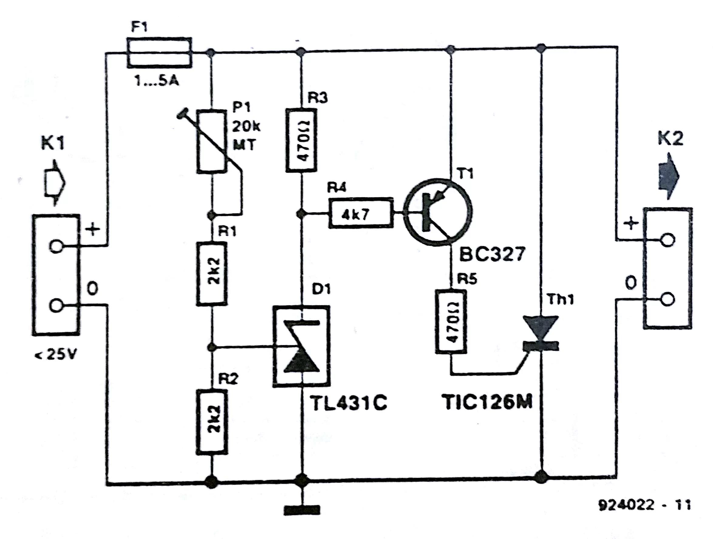 fast electronic fuse circuit diagram
