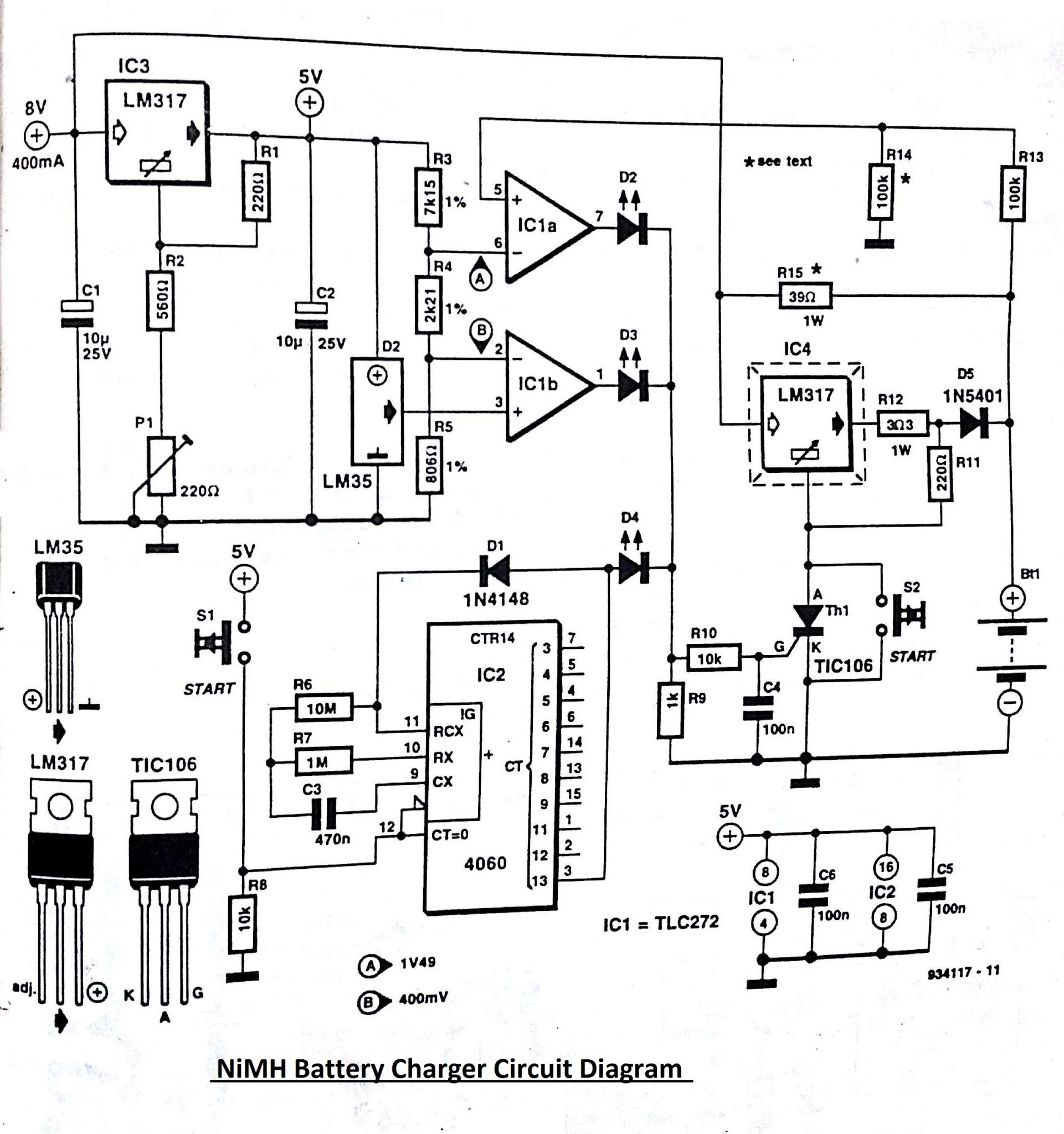 circuit diagram cell charger