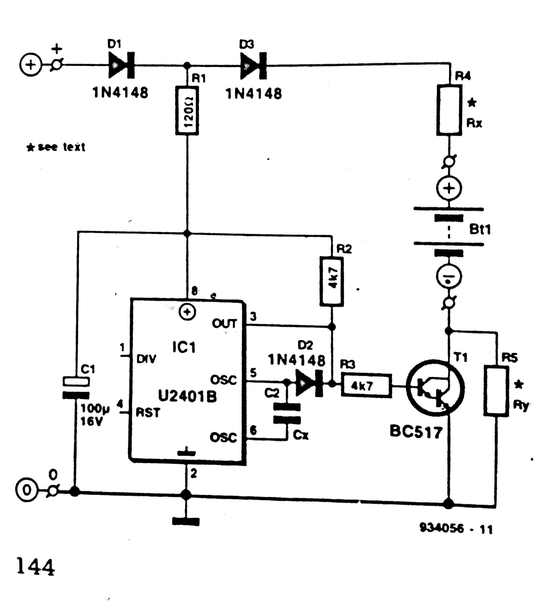trickle charger circuit diagram