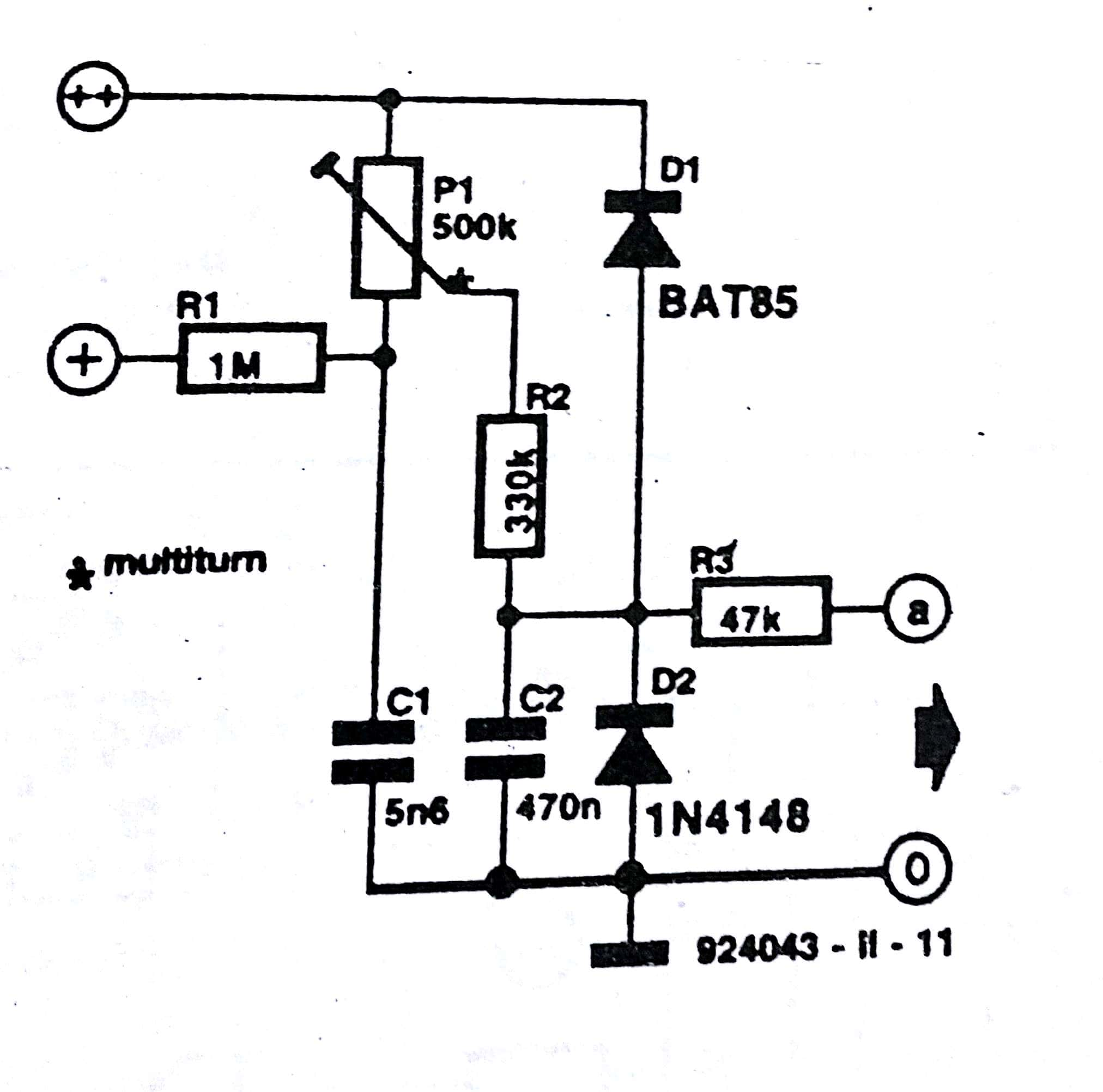 circuit diagram battery positive negative