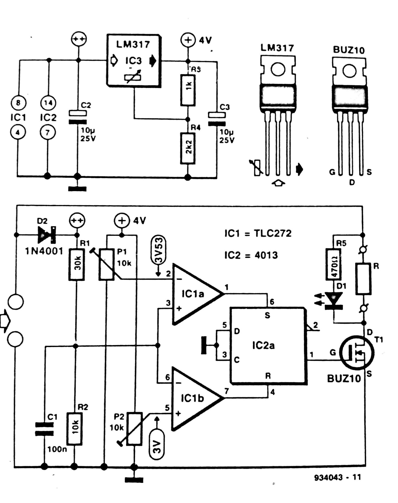 schottky diode circuit diagram