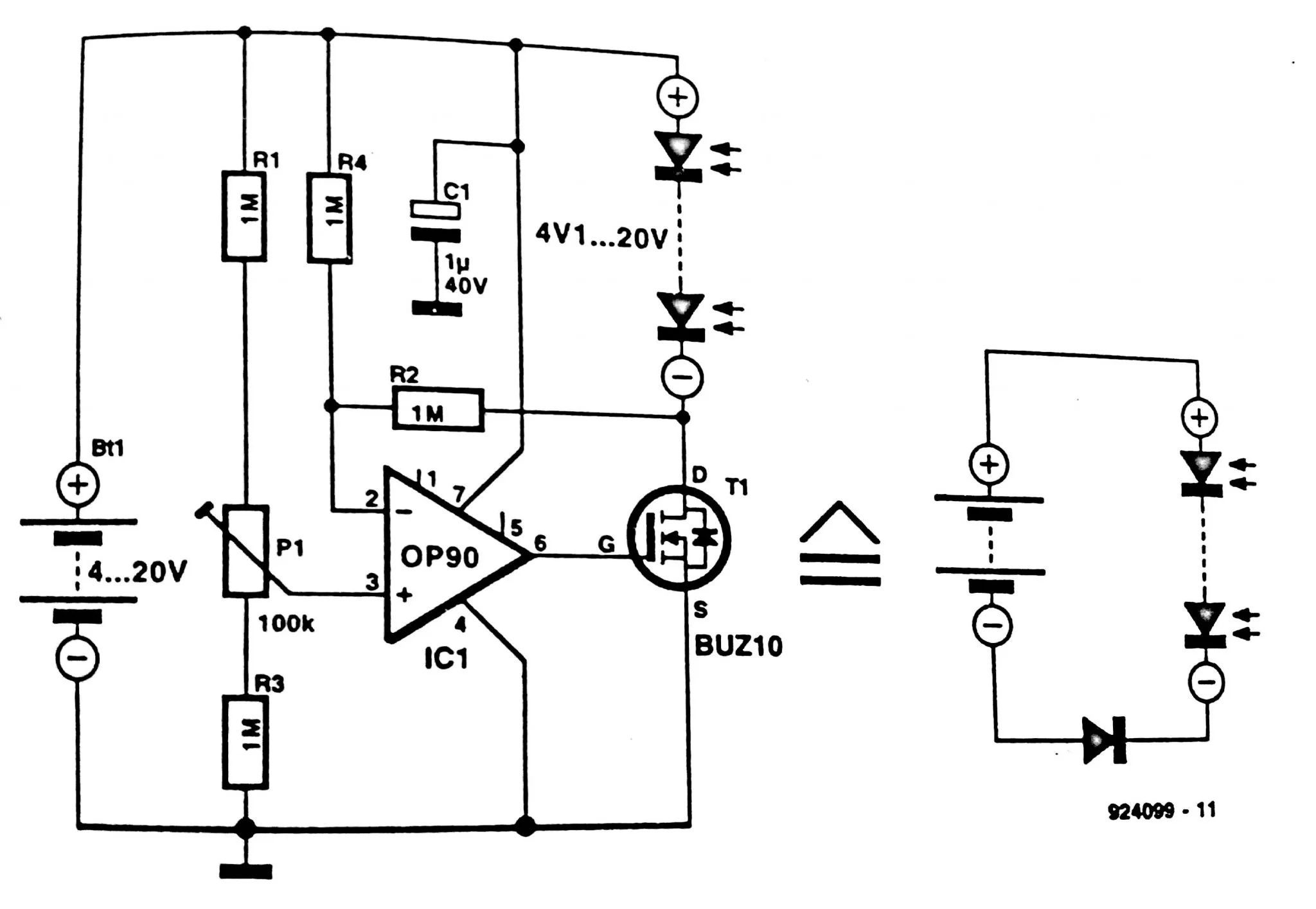circuit diagram with cell