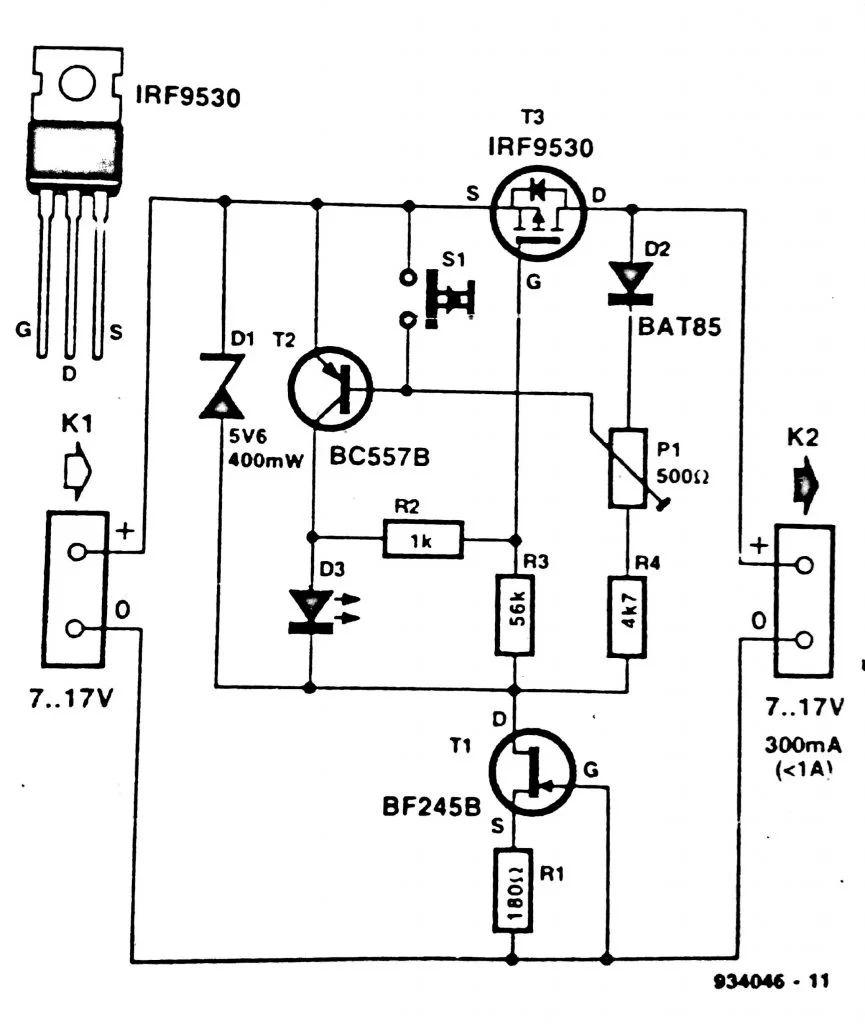 circuit diagram constant voltage source