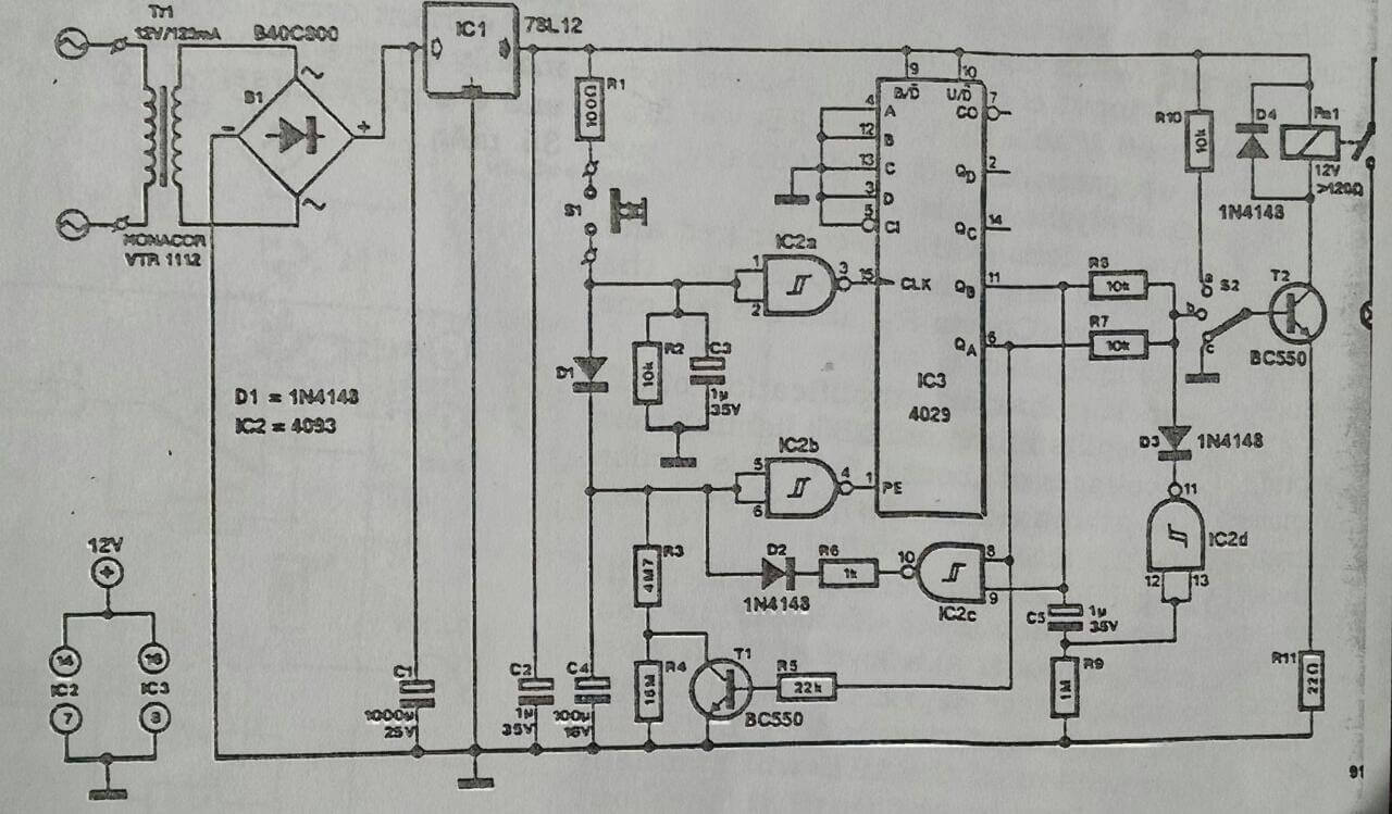 circuit diagram for a light controlled relay