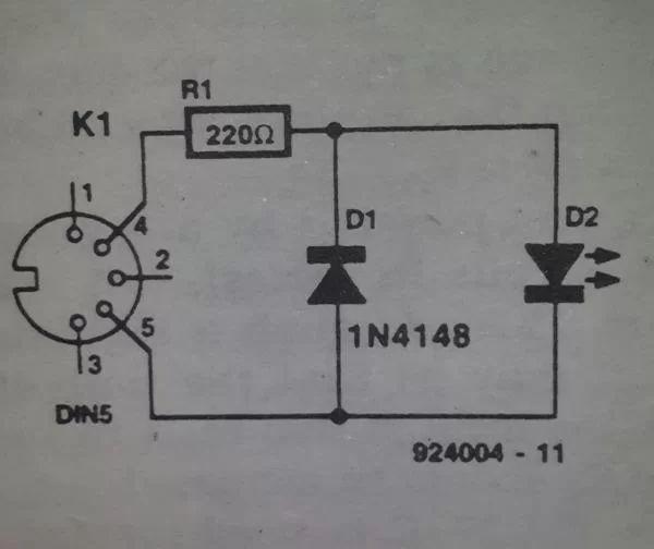 very simple led tester circuit diagram