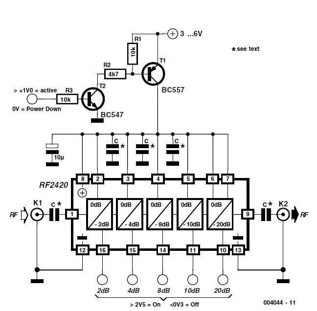 0 44db rf attenuator