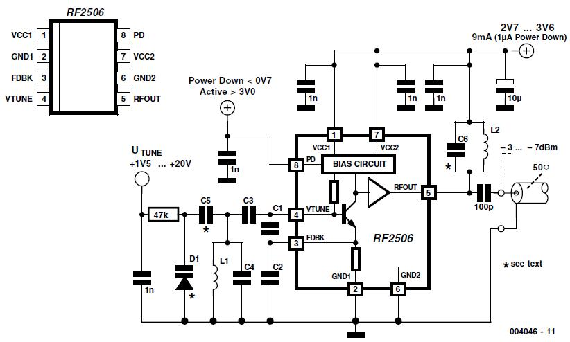 10 mhz variable frequency oscillator signalprocessing circuit