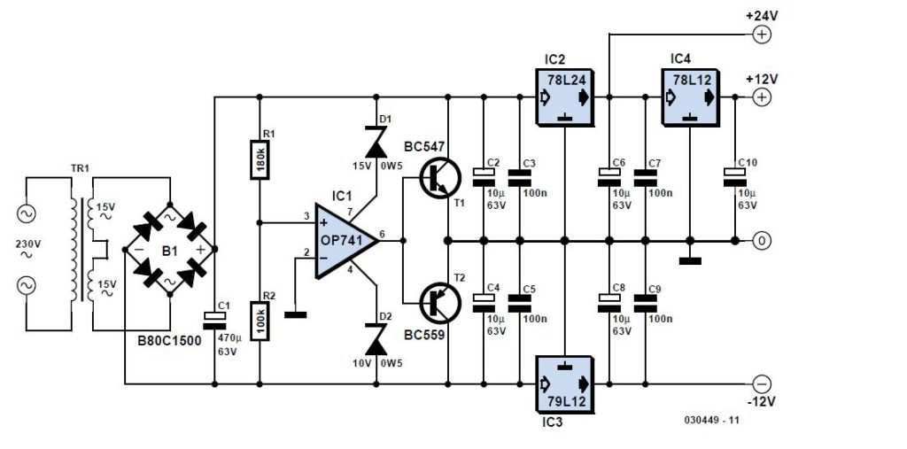 bluish flasher circuit diagram