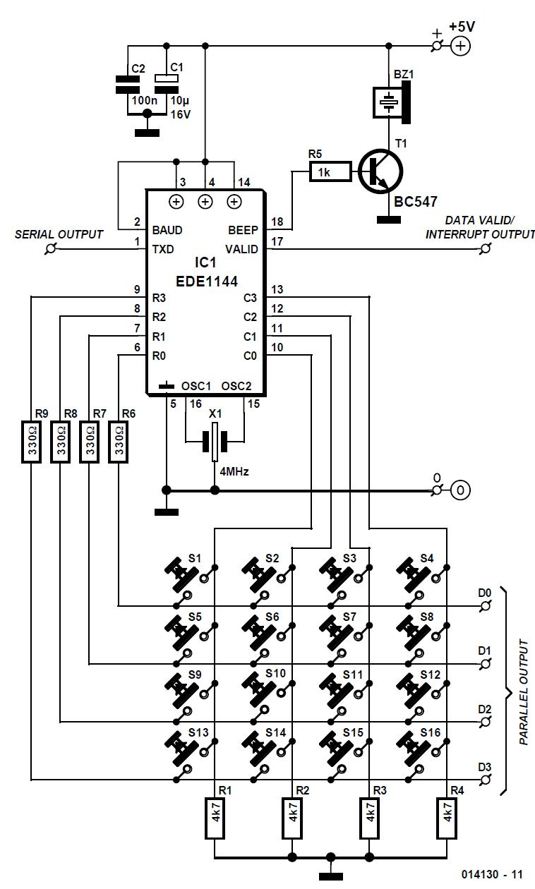 16switch encoded keypad circuit diagram