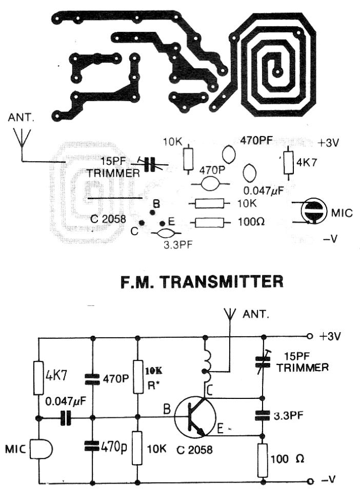 simple fm transmitter bug this is a simple design of
