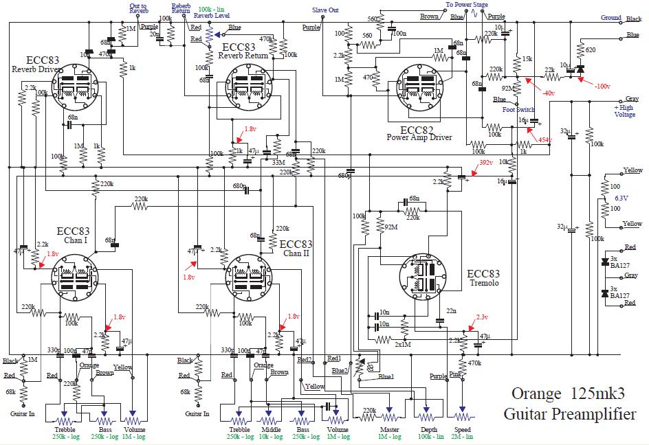 dod overdrive 250 preamp circuit diagram schematic design