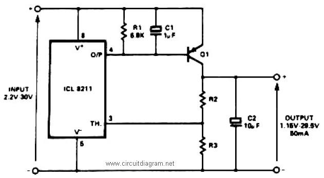 the 78xx series current boost regulator circuit diagram