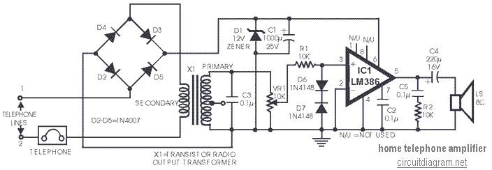 telephone switcher circuit diagram