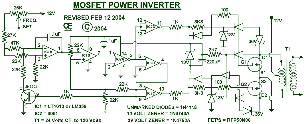 inverter circuit diagrams 1000w