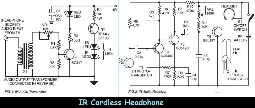 headphone speaker wire diagram images wire diagram example nilza infrared ir cordless headphone schematic design