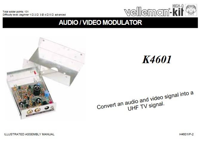 Audio/Video Modulator - Valleman Kit