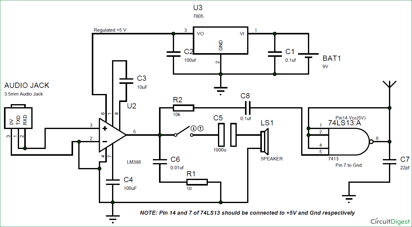 diagram simple fm transmitter circuit diagram