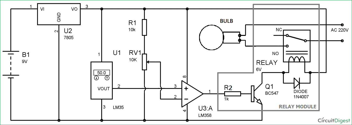 light relay switch circuit