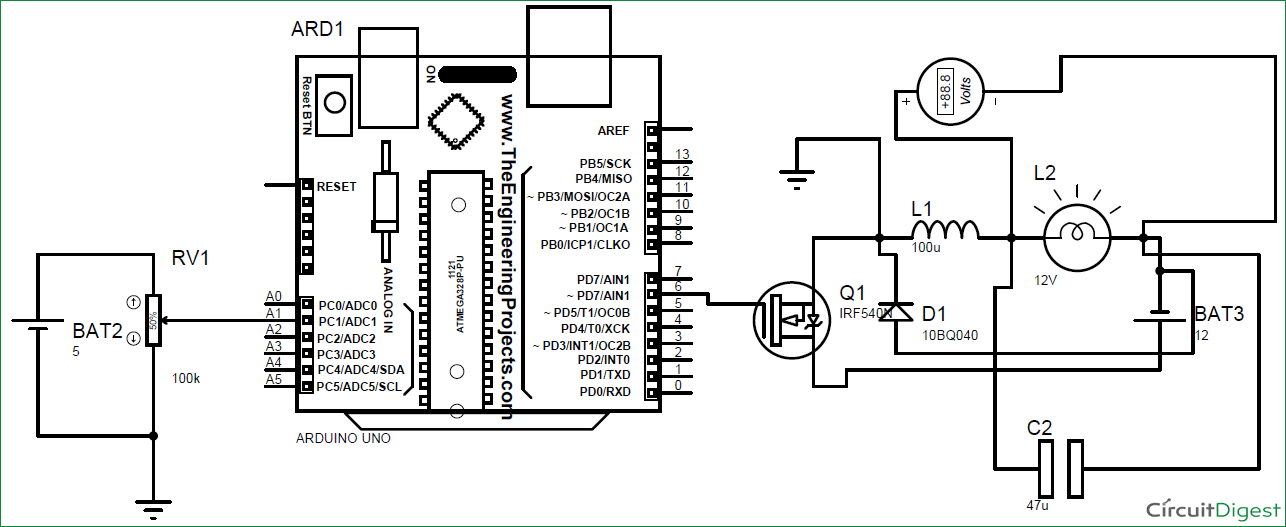 mosfet circuit wiring diagram