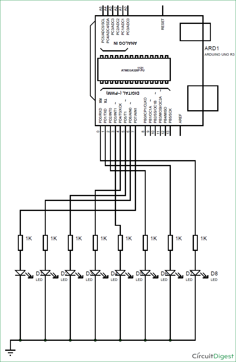circuit diagram with led