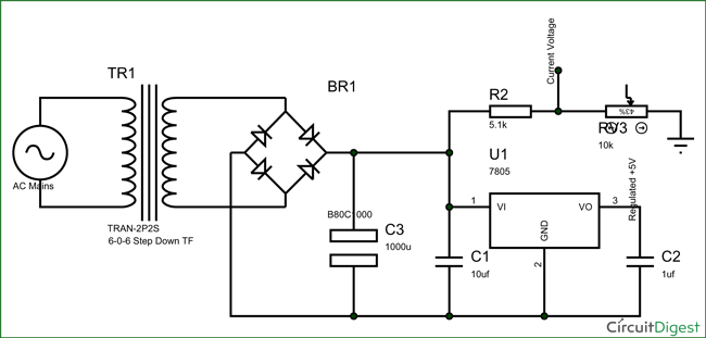 simple schematic circuit diagram
