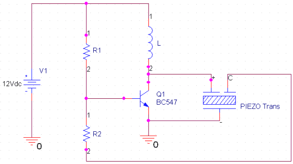 piezo transducer wiring diagram